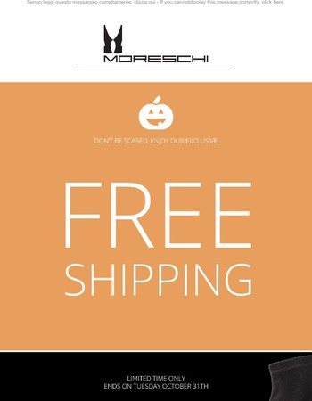 Trick or Treat? We prefer Free Shipping!