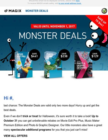 Last chance: Save up to $441 with Monster Deals