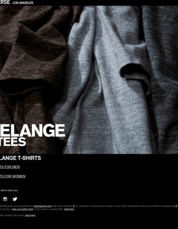 New Melange Tees