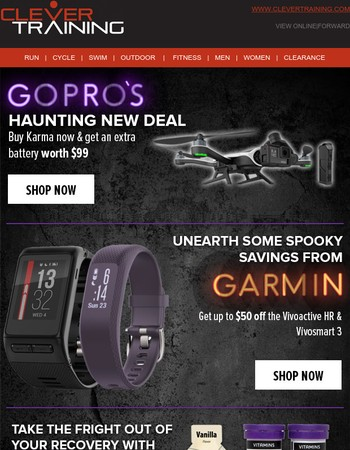 Scary good deals + new arrivals from GoPro, Stages, Garmin & STAC