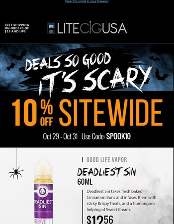 Deals So Good It's Scary – 10% Off Sitewide!
