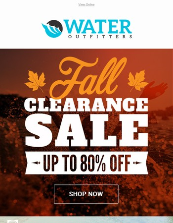 Fall Clearance Sale | Up To 80% OFF!