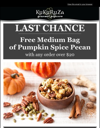 Last Chance for a Free Bag!