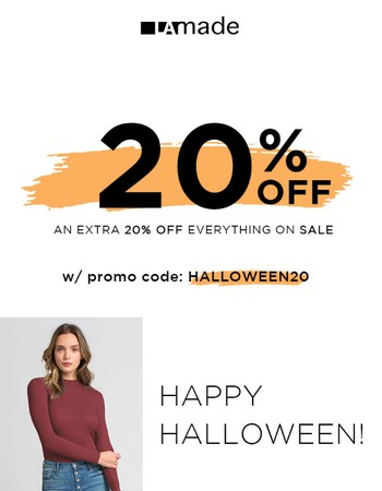 Last call for our Halloween Sale!
