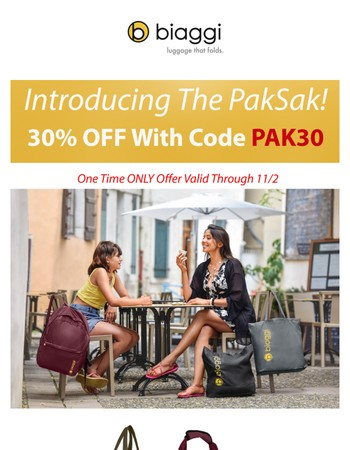 Introducing PakSak....SO much more than just an extra bag