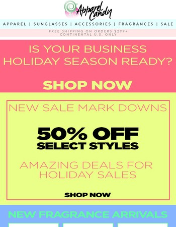 New Mark Downs, New and Restocked Fragrances and Gift Sets