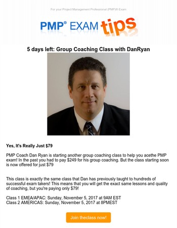 Mary, join the group coaching class with Dan Ryan for only $79