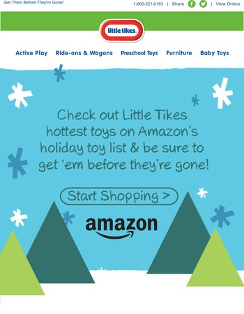 Check Out Little Tikes Hot Toys on Amazon.com