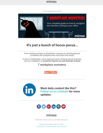 Little workplace of horrors: 7 monster colleagues [INFOGRAPHIC]