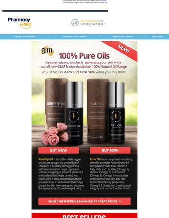 New 100% Pure Oils from G&M Cosmetics + Best Sellers