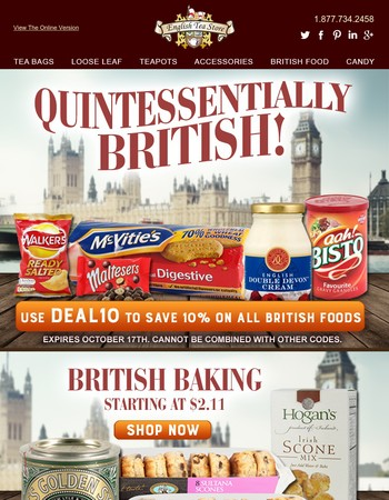 Authentic & Imported British Foods!