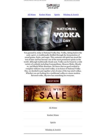 Skyview Wine and Liquors Newsletter