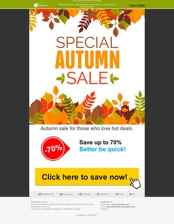 SoftOrbits - Autumn sale for those who love hot deals!