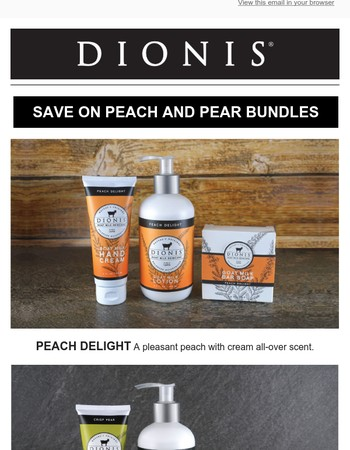 Save a Bundle on Select DIONIS Products