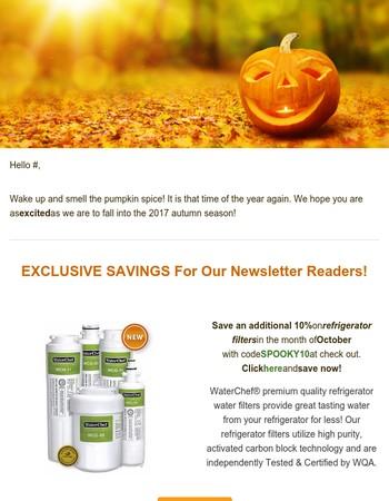 WaterChef October Newsletter - Exclusive Savings Inside!