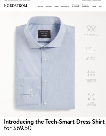 Introducing the Tech-Smart dress shirt from Nordstrom Men's Shop