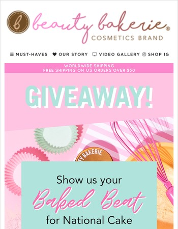 Giveaway Alert!! Win over $200 of Beauty Bakerie products!