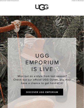 Our Official UGG Outlet is live