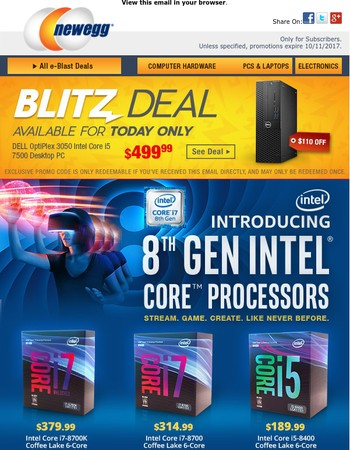 Introducing the New 8th Gen Intel Core Processors!