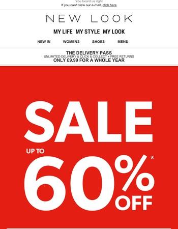 60% off mid season SALE!