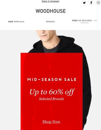 Mid-Season Flash! Up to 60% off