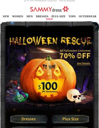 Halloween Costume Party Is ON ,Join To Win 100 Dollar!