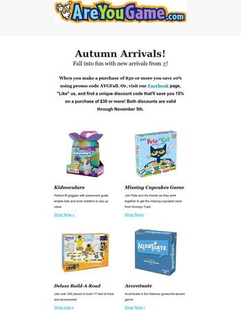 Fall into Fun with AreYouGame.com!