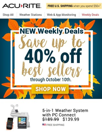 New Weekly Deals – Save up to 40% off best sellers