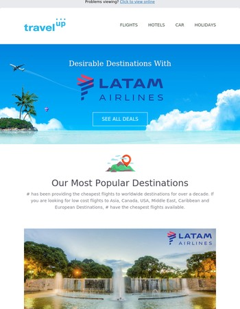 Desirable Destinations with LATAM Airlines