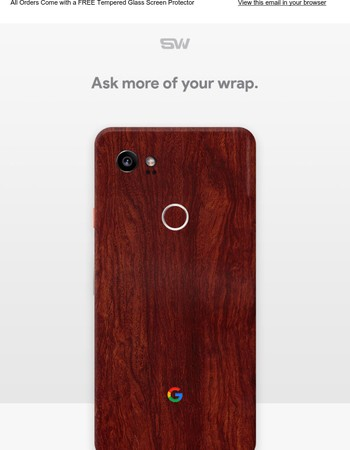 Order Your Pixel 2 Skins Now! Plus FREE 9H Tempered Glass