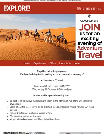 You are invited to an exclusive evening of Adventure Travel...