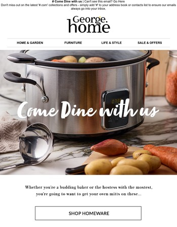 Wine and dine with NEW kitchenware