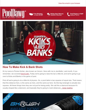 Venom Billiards Tutorial #3: How To Make Kick and Bank Shots