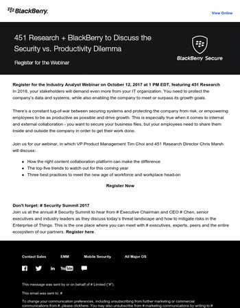 Analyst Webinar on Security vs. Productivity in Content Collaboration