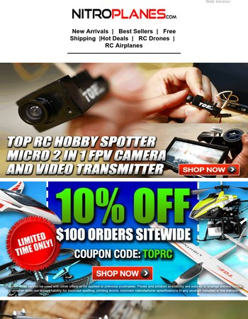 Only $22.50 TOP RC Hobby Spotter Micro 2 in 1 FPV Camera +More Deals Inside!