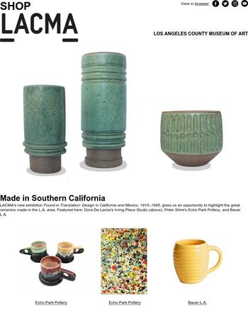 LACMA Store: Ceramics, Made in L.A.!