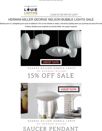 The George Nelson Bubble Lamp Sale Starts Now!
