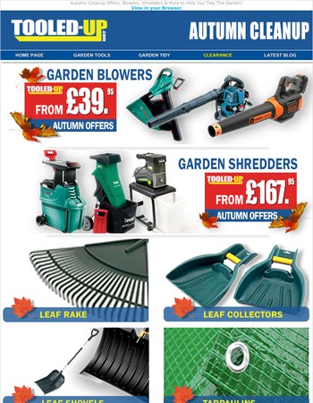 Autumn Cleanup Offers, Hurry, Whilst Stocks Last!