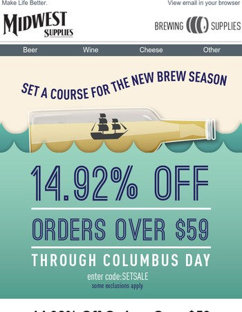 ⛵ Sail Into The New Season With 14.92% Off Orders⛵