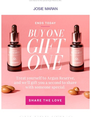 Ends Today! Buy One, Get One