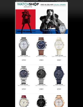 Shop Tommy Hilfiger Watches and Jewellery