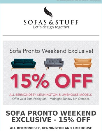 Sofa Pronto Weekend Exclusive - 15% OFF!