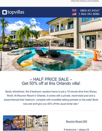 50% off at this fantastic Orlando home!
