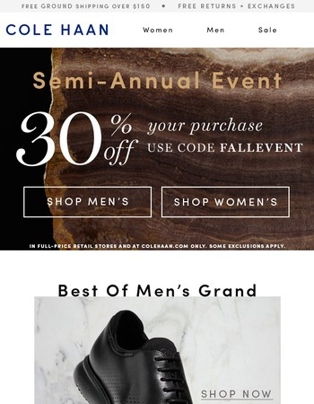 30% Off GRAND Best-Sellers & More.