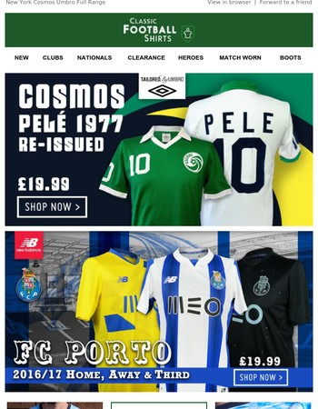 New in: Porto and New York Cosmos Clearance