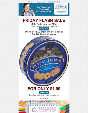 Friday Flash Sale: $1.99 Only for Box of Danish Butter Cookies