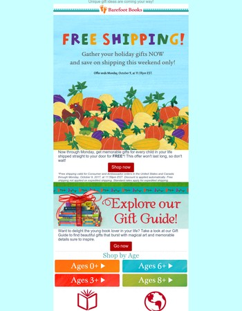 That's right: FREE SHIPPING, this weekend only!