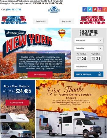 Cruise America RV - Hot Deals