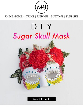 Learn How To Make This Sugar Skull Inspired Mask