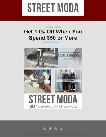 10% Off When You Spend $50 or More